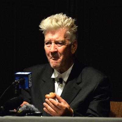 Lynch enjoying his Federal Donut.