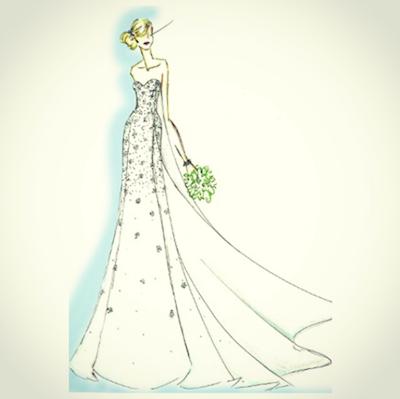 The Elsa gown! Instagram/disneyweddings