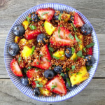 A serving of quinoa bulks up this fruit salad. Meaning: you won't be dying to tear open your brown bag lunch 45 minutes after breakfast. Amen to that. Get the recipe