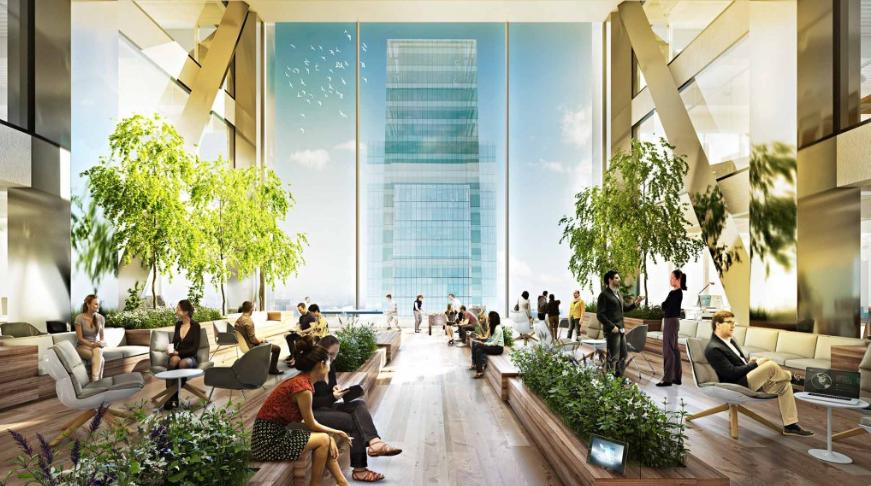 Renderings gensler will design new comcast tower s interior