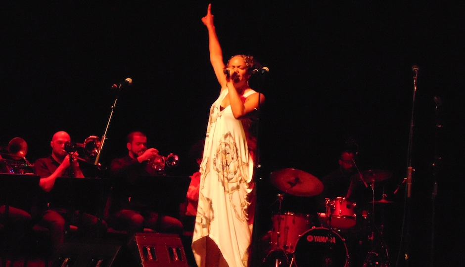 Ursula Rucker performing at the Kimmel Center.