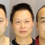 From Left: Chang Liu (tasered), Bi Liu, and Lian Zheng.