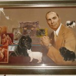 The man himself, in a painting by Roy Anderson. Also for sale.