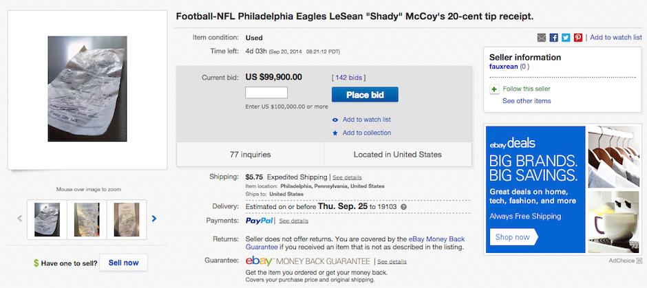 lesean-mccoy-tip-receipt-ebay-pyt