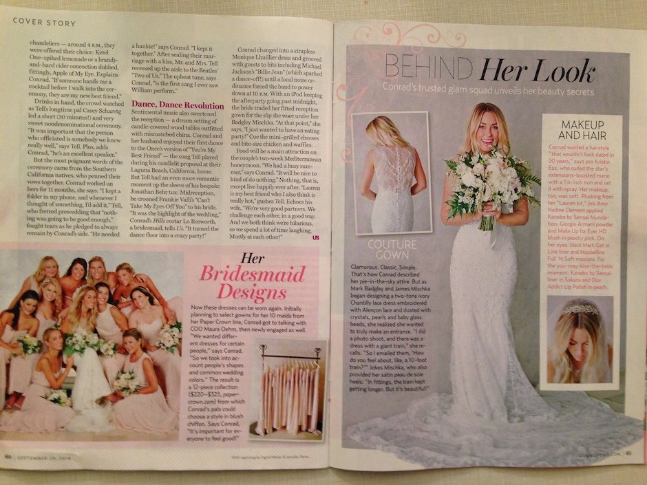 A spread from this week's issue of Us Weekly.