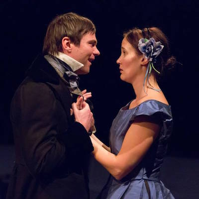"""Josh Carpenter as Pip and Kate Czajkowski as Estella in """"Great Expectations."""" 