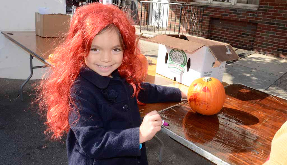Painting pumpkins at last year's Fall Festival + Spooky Saturday on East Passyunk Avenue.