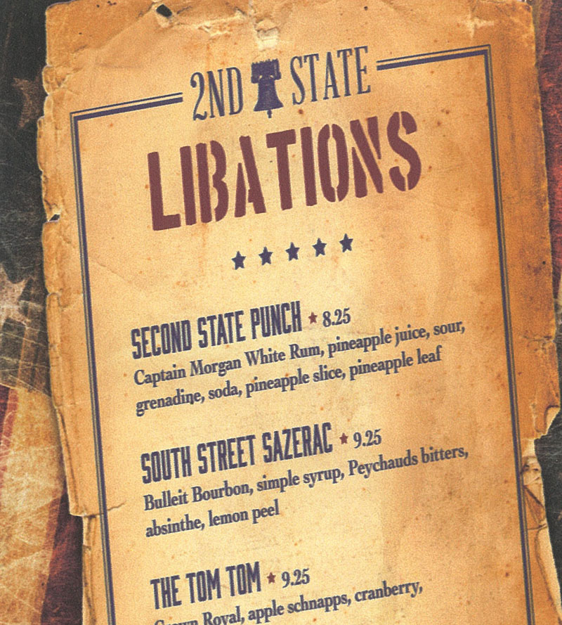 2nd State drink list, guess this is a Taffer-maniacs collector's item.
