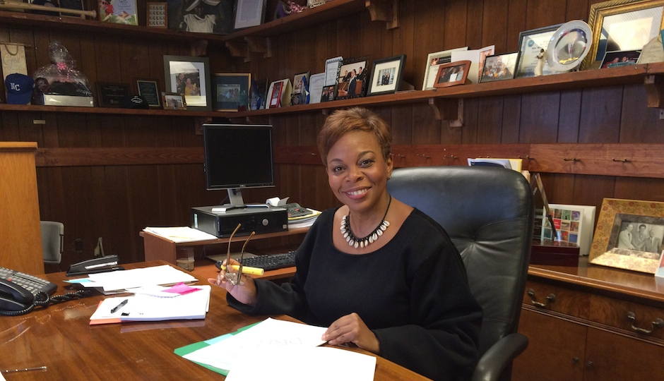 Camden Mayor Dana Redd in her office. The city is showing signs of recovery, at long last.