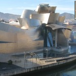 "An example of the kind of design some Spaniards call ""arquitectura-espectáculo,"" aka, the Guggenheim in Bilbao."