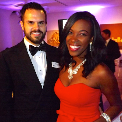 Indigo Ball 2013 co-chairs and Board members Rudy Flesher and Amber Hikes.