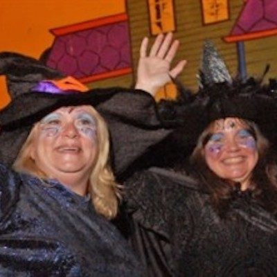 The witches of Linvilla Orchards don't look so scary, do they?