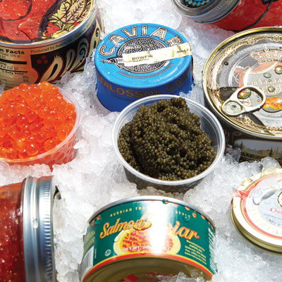 Caviar at NetCost Market | Photo by Michael Persico