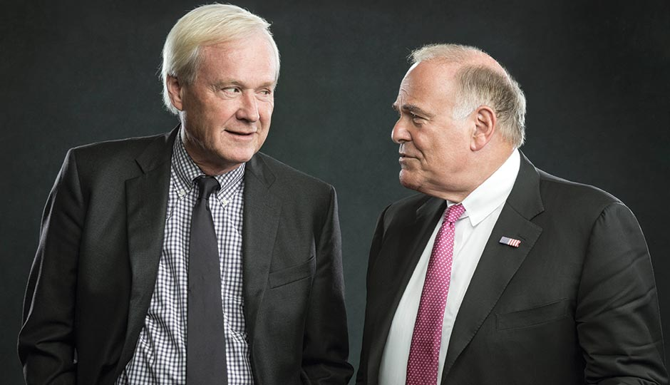 Chris Matthews and Ed Rendell. Photograph by Justin James Muir