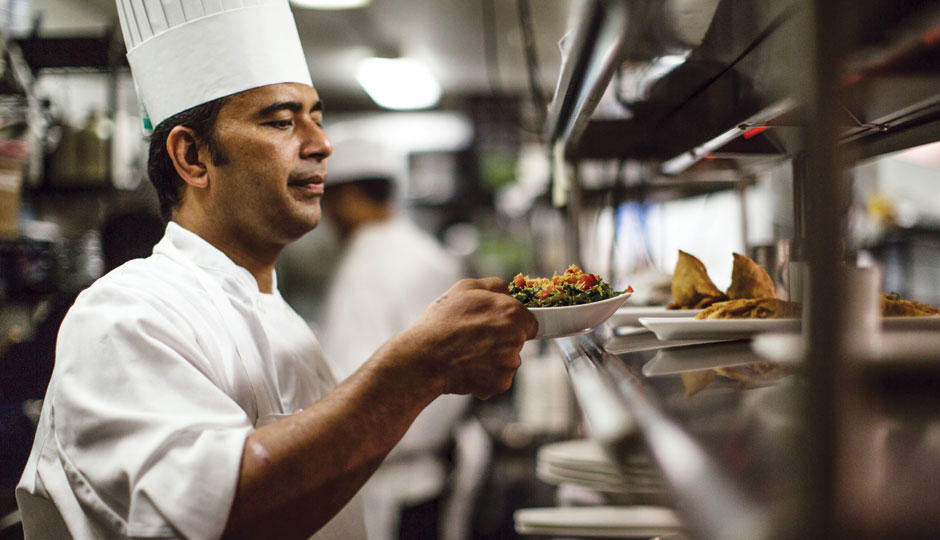 Chef/owner Rakesh Ramola at Indeblue | Photo by Neal Santos