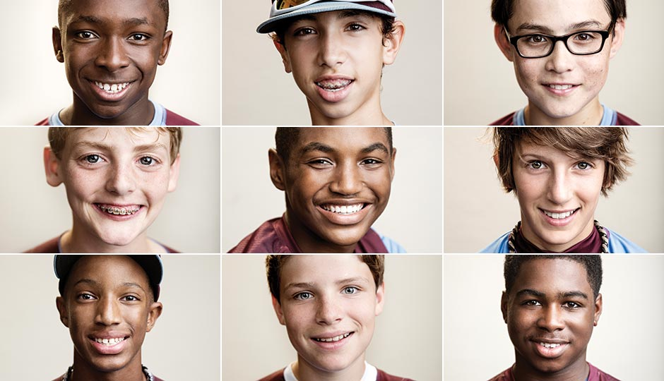 Row 1: Zion Spearman, Jared Sprague-Lott, Tai Shanahan. Row 2: Erik Lipson, Joe Richardson, Carter Davis. Row 3: Kai Cummings, Eli Simon, Jahli Hendricks. Photography by Justin James Muir