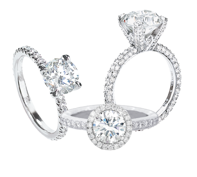 These Tacori rings are just a few of the sparklers that will be on sale.
