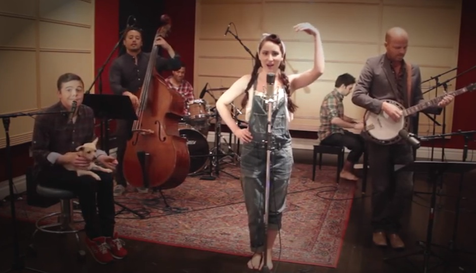 "Postmodern Jukebox performing ""Anaconda."""