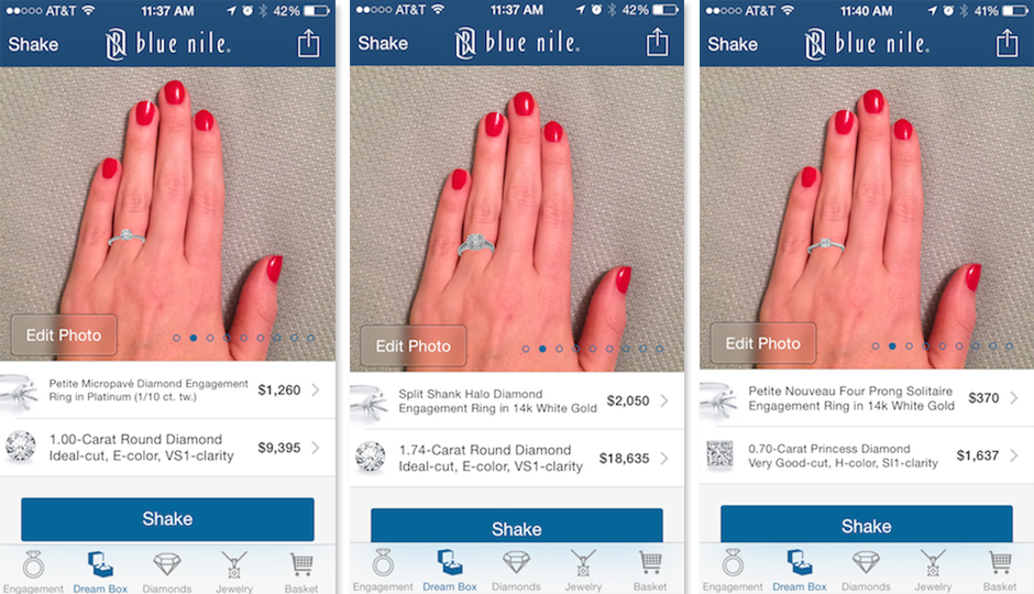 This New App Feature Lets You Virtually Try Engagement Rings On Your