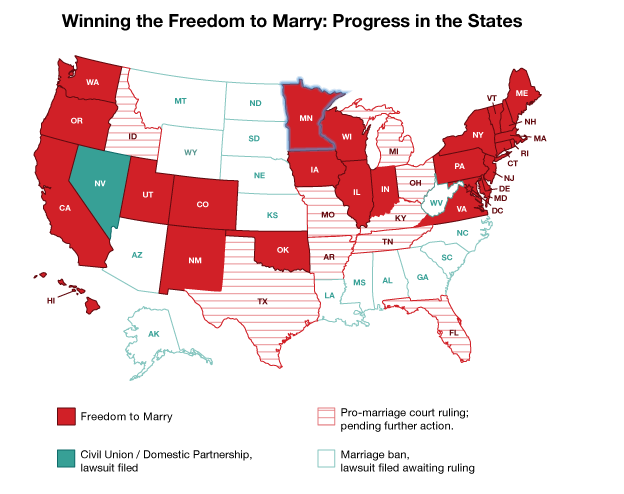 U.s. gay marriage map