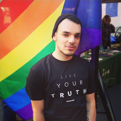 """One of GALAEI'S """"Live Your Truth"""" tees."""