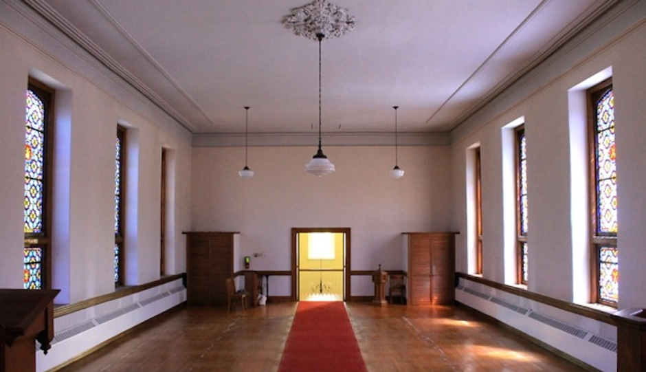 The interior of Gladwyne Methodist Church, soon to be converted to residential space.