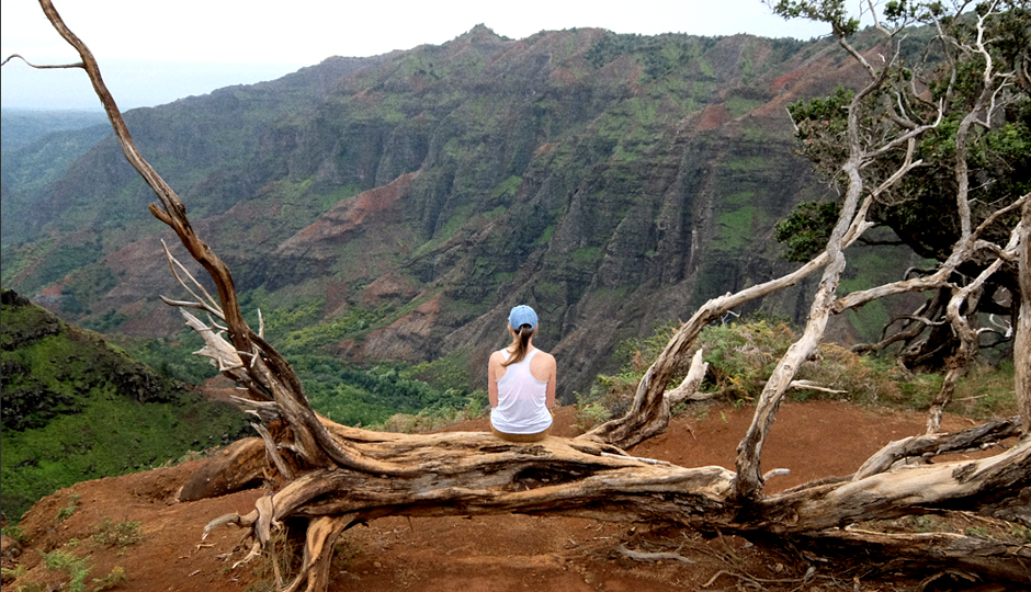 When you shut work out of your mind, you have time to stop and smell the roses. Or in my case, stare at the Waimea Canyon.