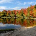 Lake Naomi's Deer Trail Lake in the fall.
