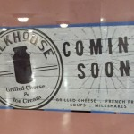 Milkhouse's Coming Soon sign from Suburban Station.