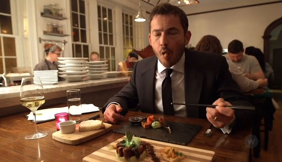 """Coren at Vedge. He called Vedge """"the best vegan cooking I have ever had."""""""
