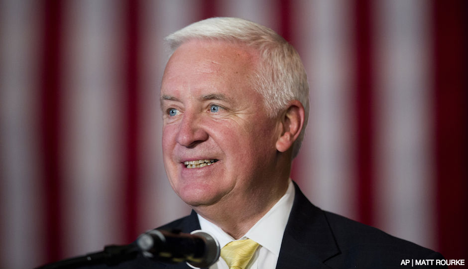 Former Gov. Tom Corbett