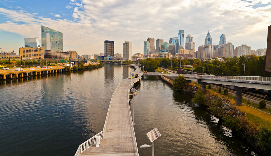 Schuylkill Banks Boardwalk | Photograph by Laura Kicey