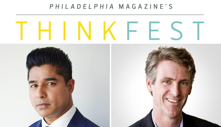 Dilworth Paxson CEO Ajay Raju, left, will be interviewed by Philadelphia magazine editor Tom McGrath.