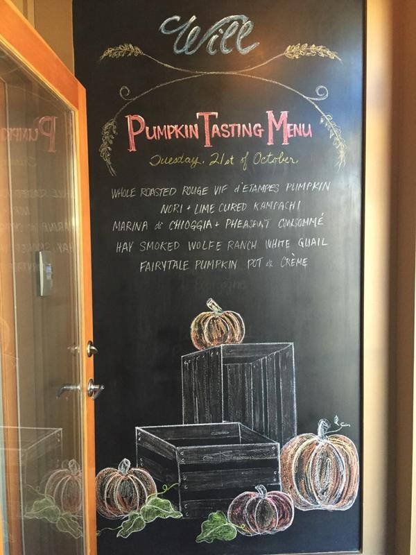 will pumpkin tasting menu