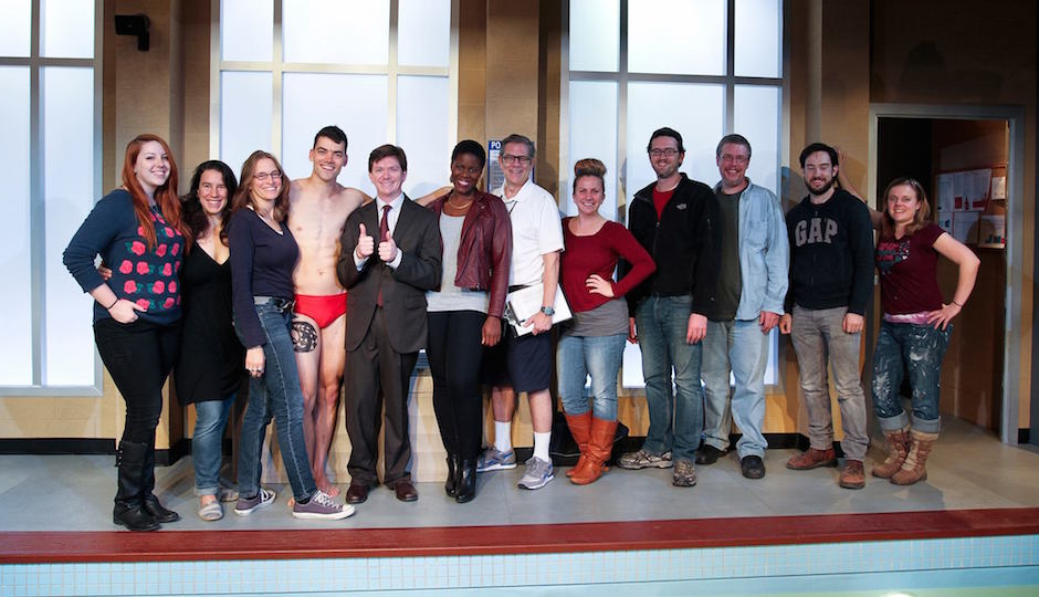 "Cast, crew and staff of ""Red Speedo."" | Photo via Theatre Horizon Facebook"