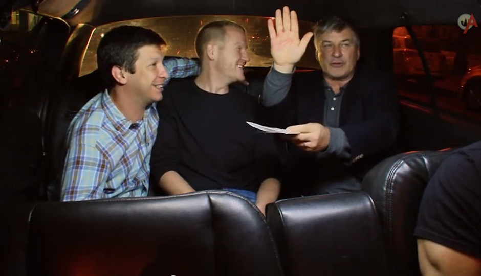 Alec Baldwin and couple Toby and Brian on Alec Baldwin's Love Ride.