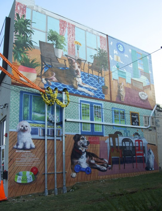 Chroma dolls paint adorable mural for paws ticket for Chroma mural paint