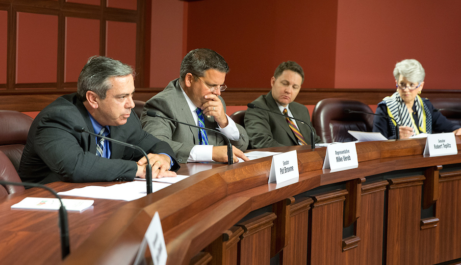 The Basic Education Funding Commission during a hearing earlier this year.