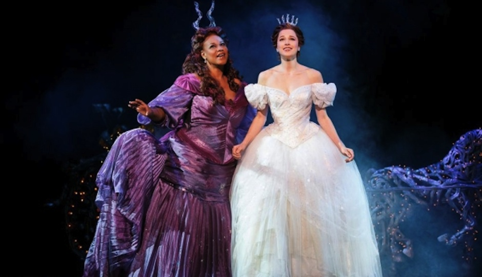 Kecia Lewis and Paige Faure in Cinderella.