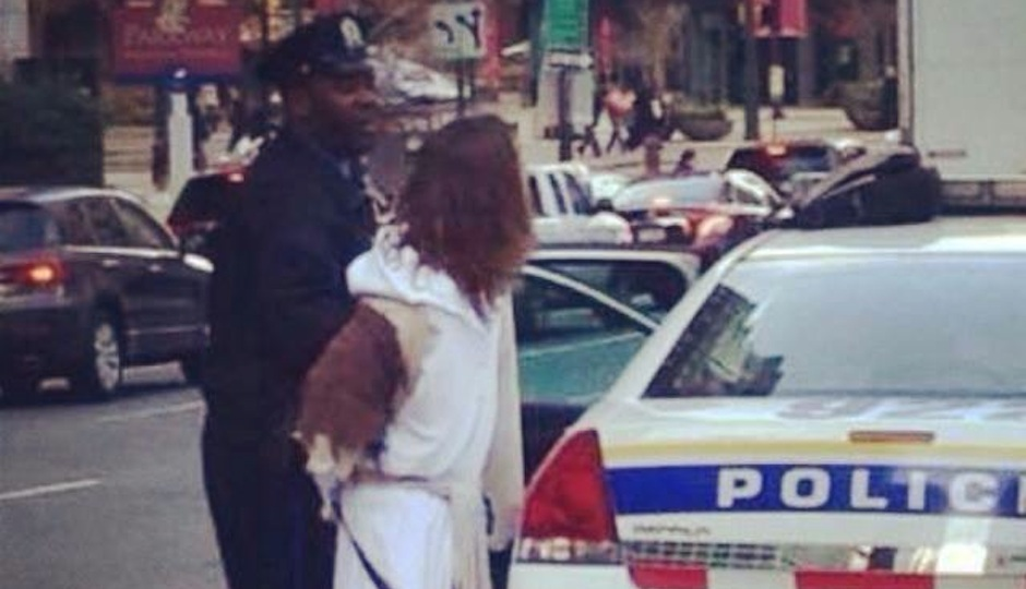 A photo from Philly Jesus's Facebook showing his arrest.