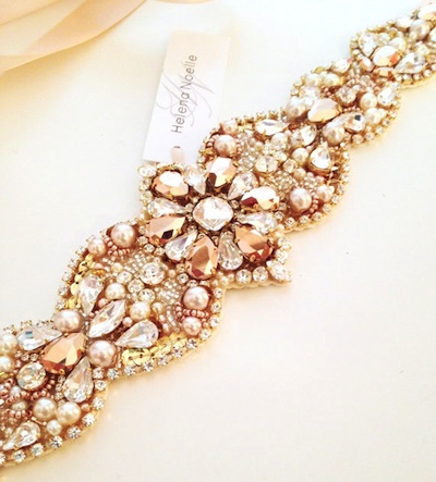 This gorgeous belt will add a hint of color and sparkle to your white dress.
