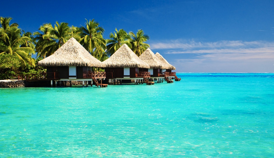 How about a private bungalow in the Maldives? Shutterstock.