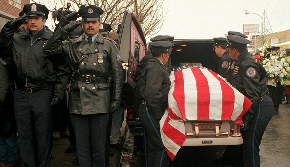 Office Lauretha Vaird's funeral, January 11, 1996. AP file photo/Nanine Hartzenbusch