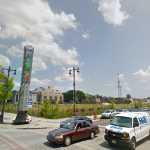 The vacant lot on northeast corner of Broad and Washington. | Photo via Google Street View.