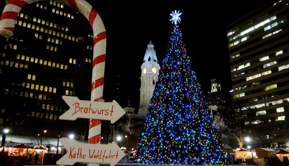 Christmas Village Philadelphia.The Food At Love Park S Christmas Village