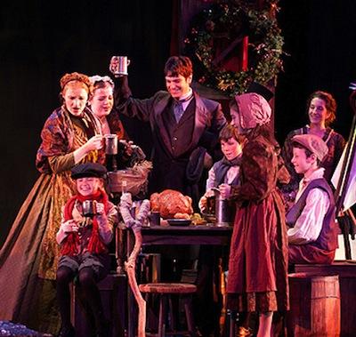 "The Walnut Street Theatre performs ""A Christmas Carol."" |Photo courtesy of the Walnut Street Theatre."
