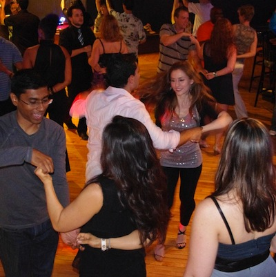 Underground Salsa holds a holiday-themed dance event. | Photo via Salsa in the Suburbs.