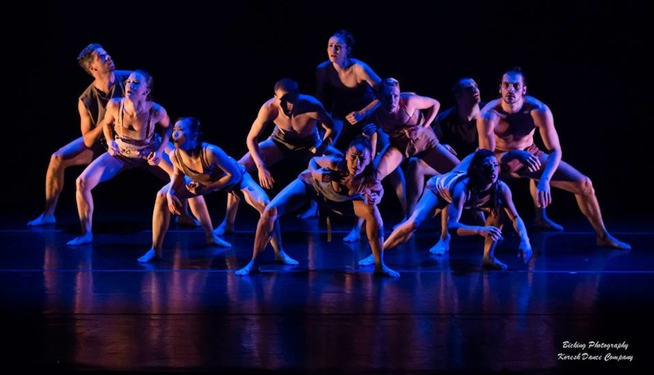 """Koresh Dance Company performs in """"Ev-o-lu-tion.""""   Photo via Facebook, courtesy of Bicking Photography."""