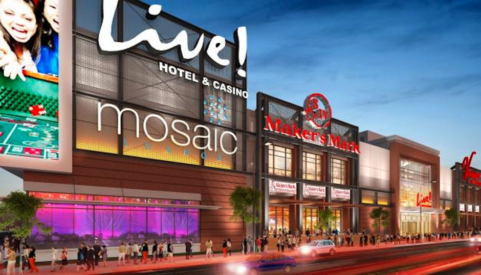 Rendering of Live! Hotel and Casino via PlanPhilly