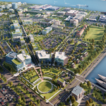 Rendering of the Navy Yard Master Plan. By PIDC via Technically Philly.